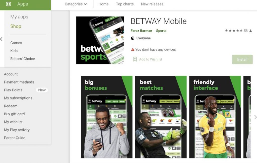 Betway App for Android