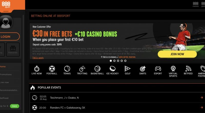 888 Sports Betting Review canada