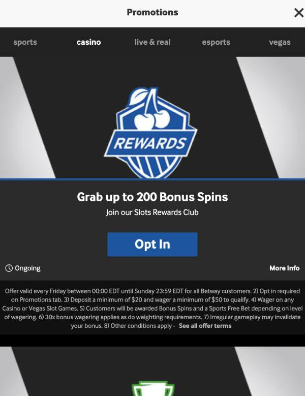 Bonuses and Rewards on the Betway